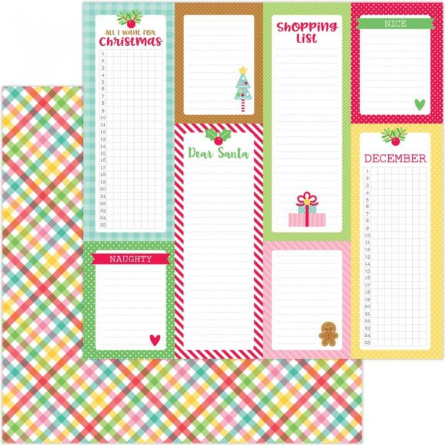Papier Imprimé Recto-verso 12x12 Christmas Magic Plaidsome Tidings