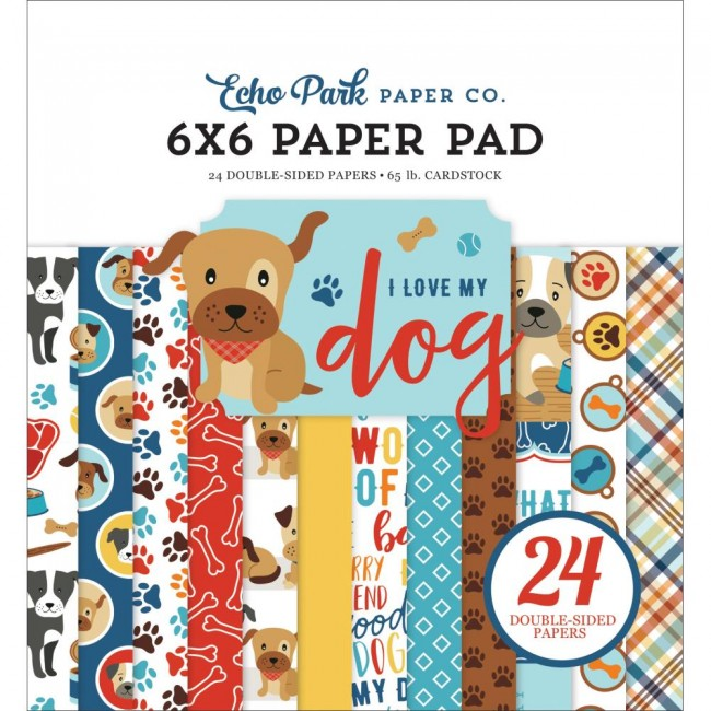 Stack Papiers Imprimés 6x6 I Love My Dog