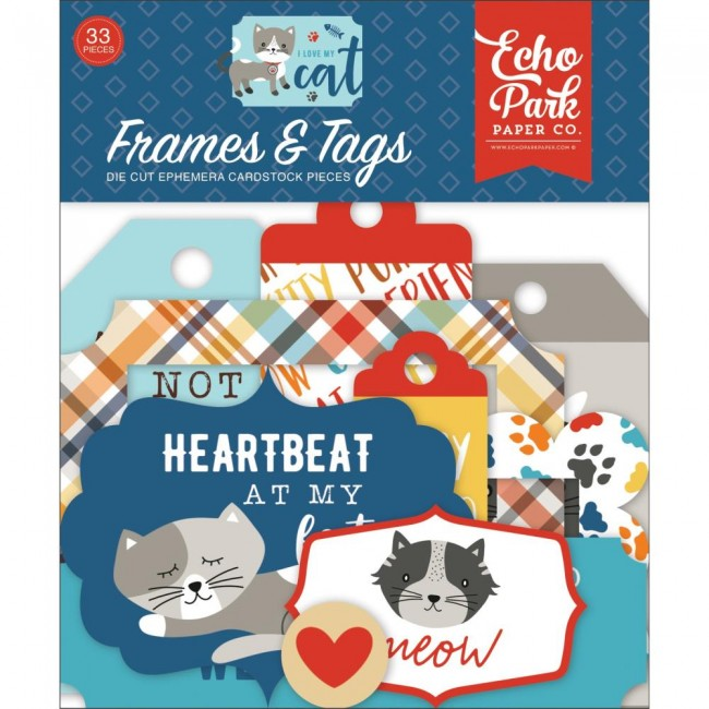 Die Cuts I Love My Cat Frames & Tags