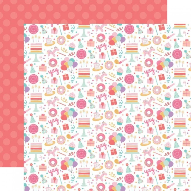 Papier Imprimé Recto-verso 12x12 It's Your Birthday Girl Birthday Girl Fun