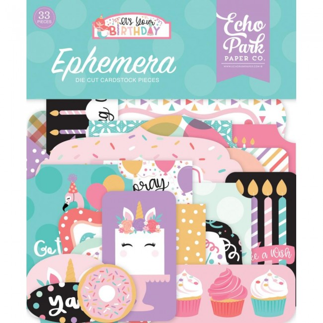 Die Cuts It's Your Birthday Girl Icons