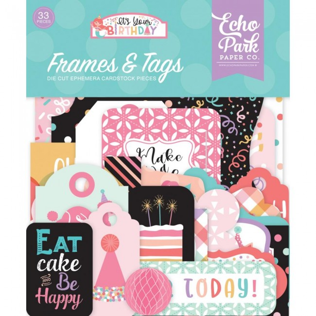 Die Cuts It's Your Birthday Girl Frames & Tags