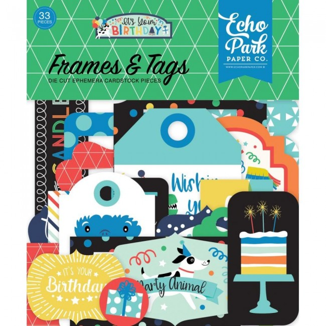 Die Cuts It's Your Birthday Boy Frames & Tags