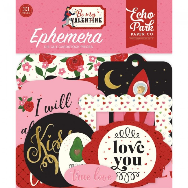 Die Cuts Be My Valentine Icons