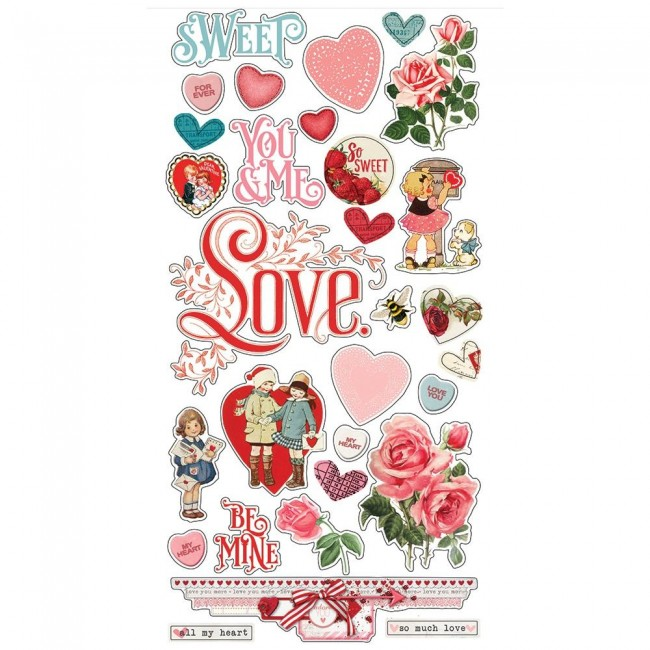 Chipboard 6x12 Simple Vintage My Valentine
