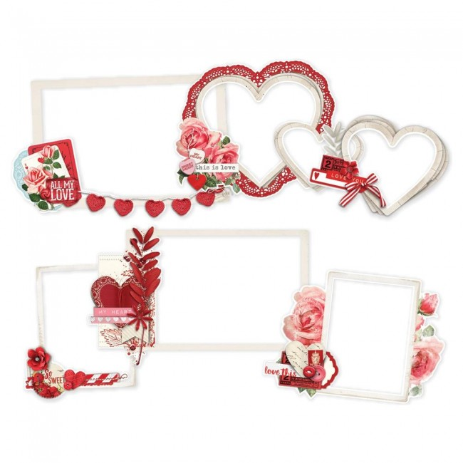 Die Cuts Simple Vintage My Valentine Layered Frames