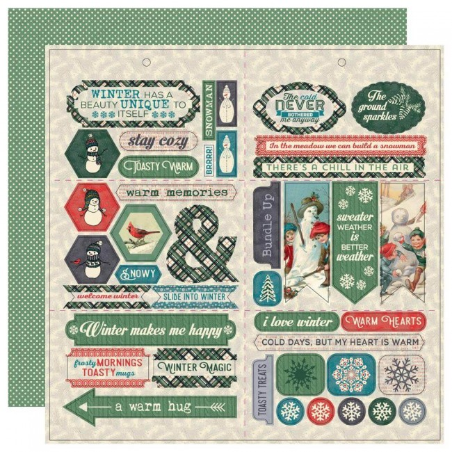 Feuille de Die Cuts 12x12 Snowfall Elements