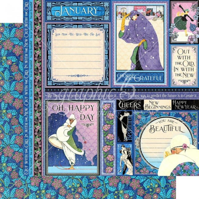Papier Imprimé Recto-verso 12x12 Fashion Forward January