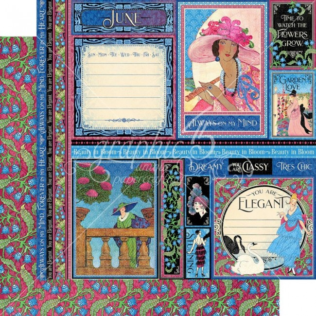 Papier Imprimé Recto-verso 12x12 Fashion Forward June