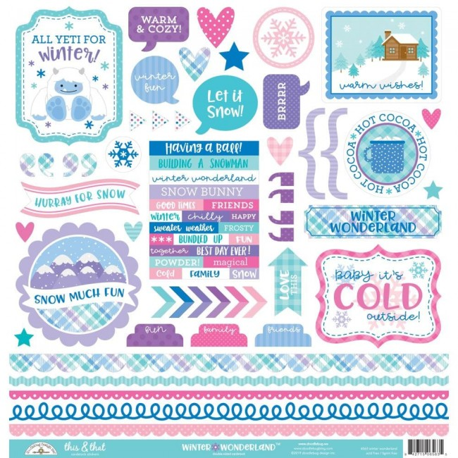 Autocollants 12x12 Winter Wonderland This & That