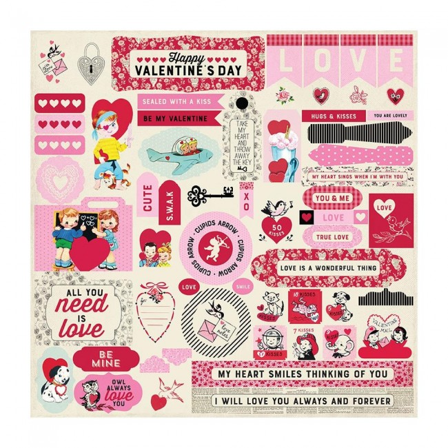 Autocollants 12x12 Love Notes Details