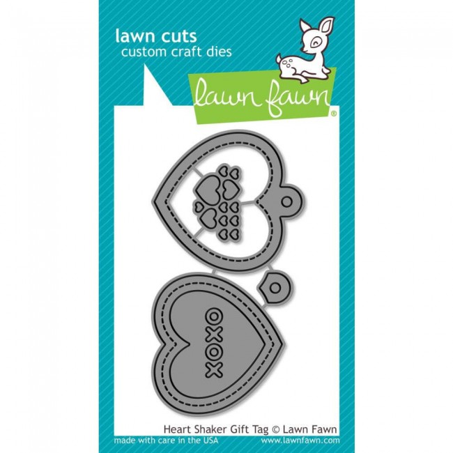 Matrice de Découpe Lawn Cuts Heart Shaker Gift Tag