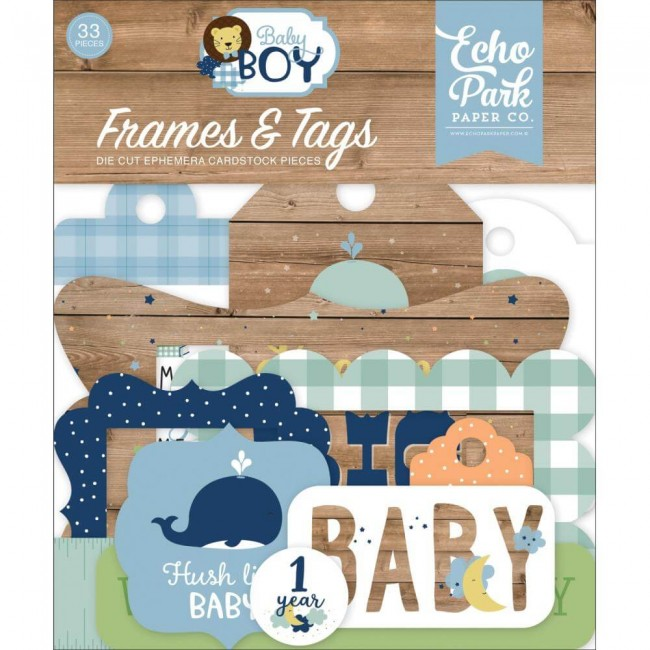Die Cuts Baby Boy Frames & Tags