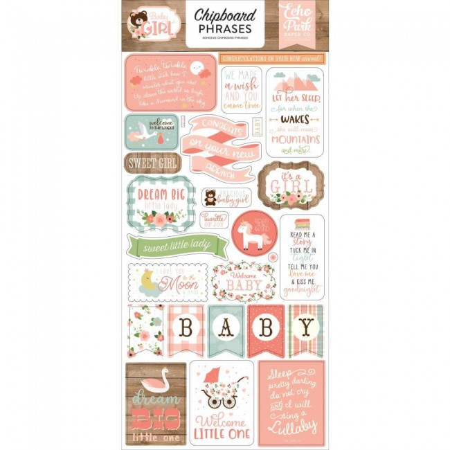 Chipboard 6x13 Baby Girl Phrases