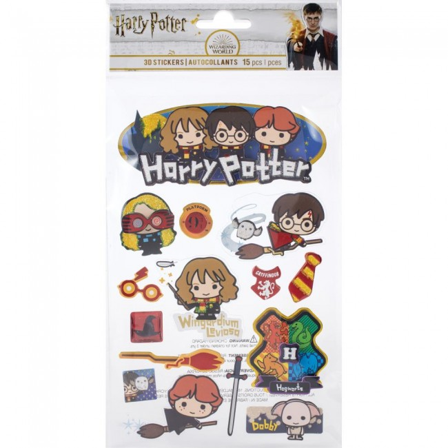 Autocollants 3D Harry Potter Chibi