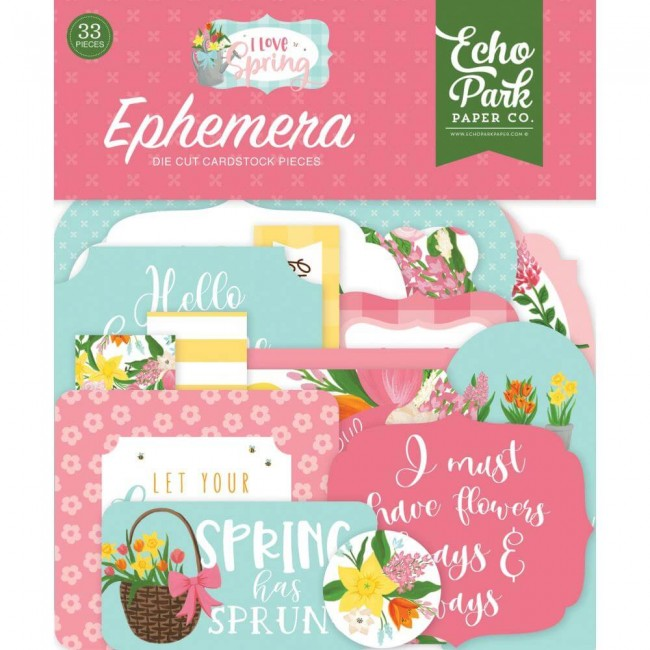 Die Cuts I love Spring Icons