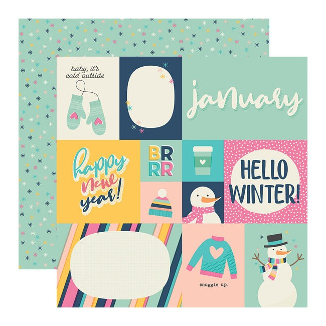 Papier Imprimé Recto-verso 12x12 Best Year Ever January