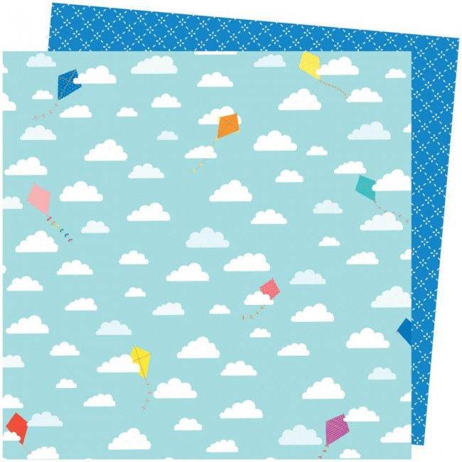 Papier Imprimé Recto-verso 12x12 Picnic In The Park Amy Tangerine All The Way Up