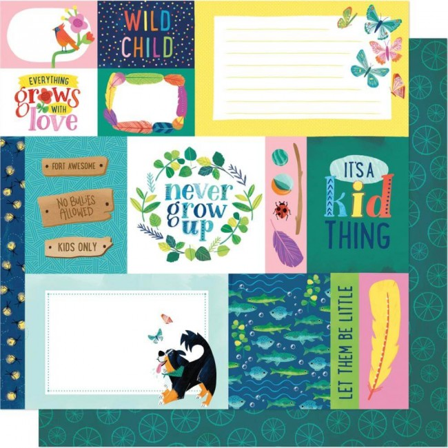 Papier Imprimé Recto-verso 12x12 Never Grow Up Shimelle Forever Young