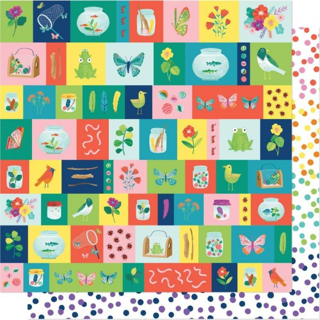 Papier Imprimé Recto-verso 12x12 Never Grow Up Shimelle Small Discoveries