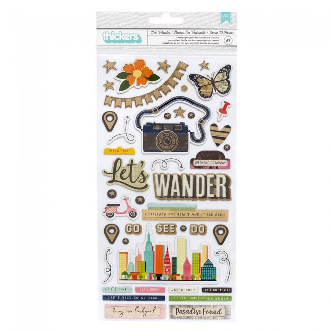 Thickers Let's Wander Vicki Boutin Phrase Chipboard
