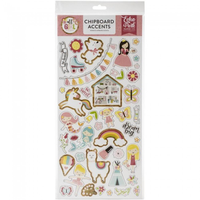 Chipboard 6x13 All Girl Accents