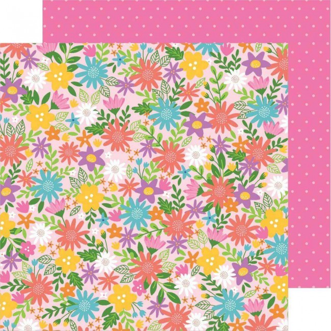 Papier Imprimé Recto-verso 12x12 Sun & Fun Summer Bouquet