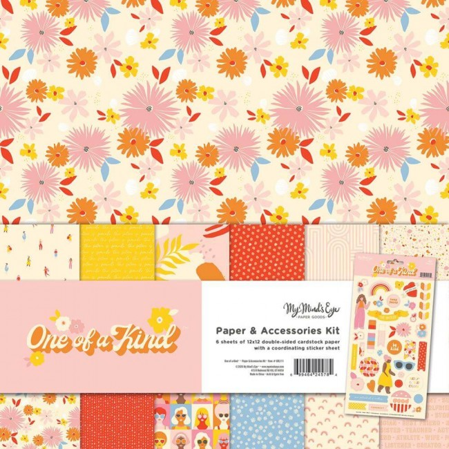 Kit Papiers Imprimés 12x12 One Of A Kind