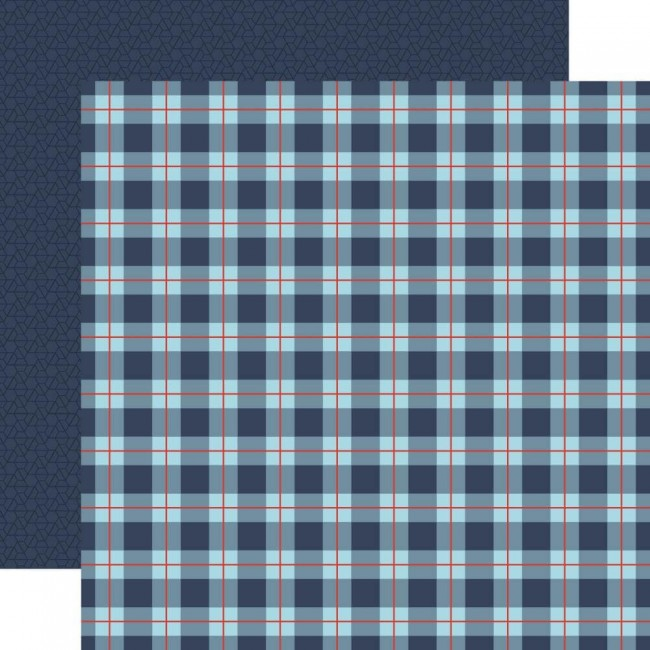 Papier Imprimé Recto-verso 12x12 All Boy All Boy Plaid
