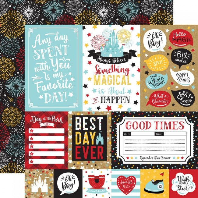 Papier Imprimé Recto-verso 12x12 Remember The Magic Multi Journaling Cards