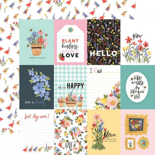 "Papier Imprimé Recto-verso 12x12 Oh Happy Day Spring 3""X4"" Journaling Cards"