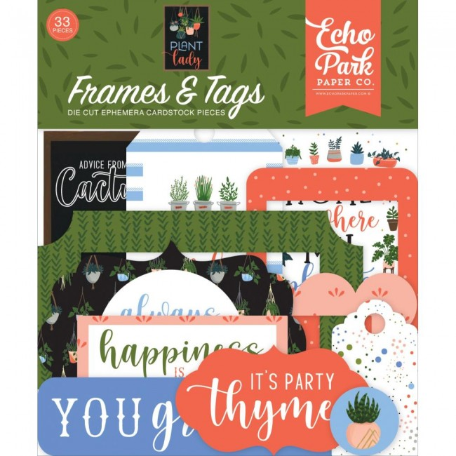 Die Cuts Plant Lady Frames & Tags