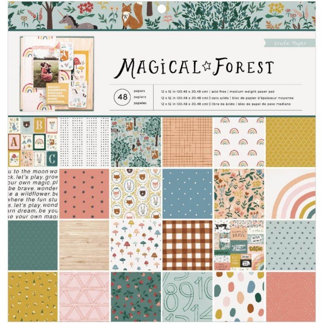 Stack Papiers Imprimés Recto 12x12 Magical Forest