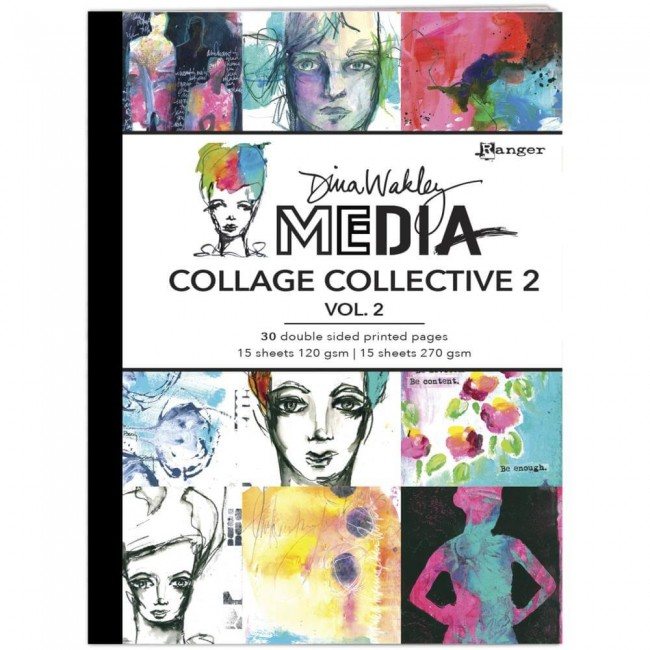 Livre Dina Wakley Mixed Media Collage Collective Vol 1