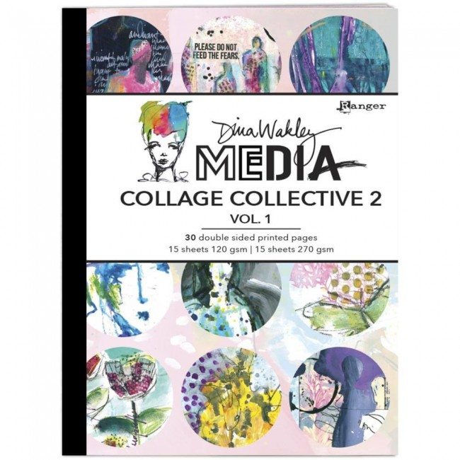 Livre Dina Wakley Mixed Media Collage Collective Vol 2