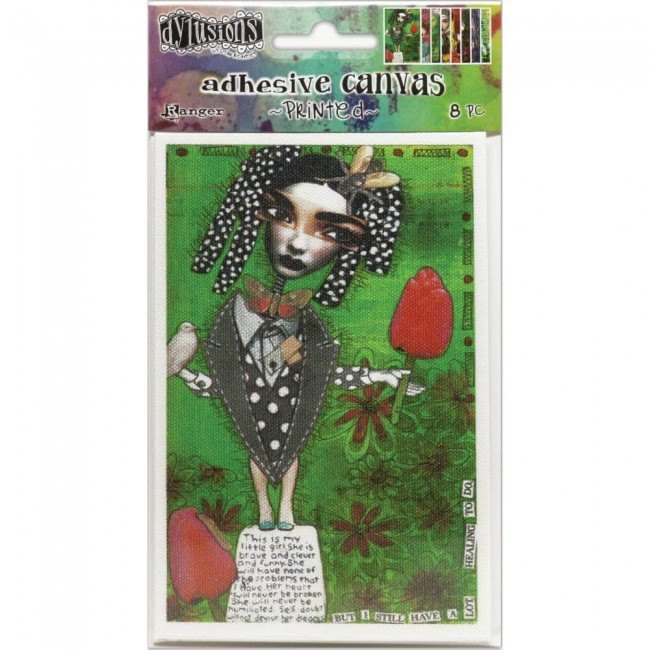 Autocollants en Toile Dyan Reaveley's Dylusions Adhesive Canvas Set #3