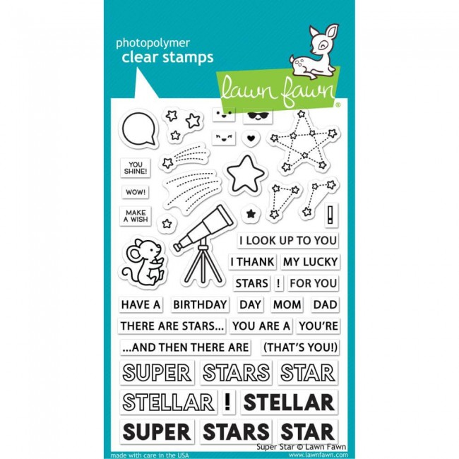 Tampon Acrylique 4x6 Lawn Fawn Super Star