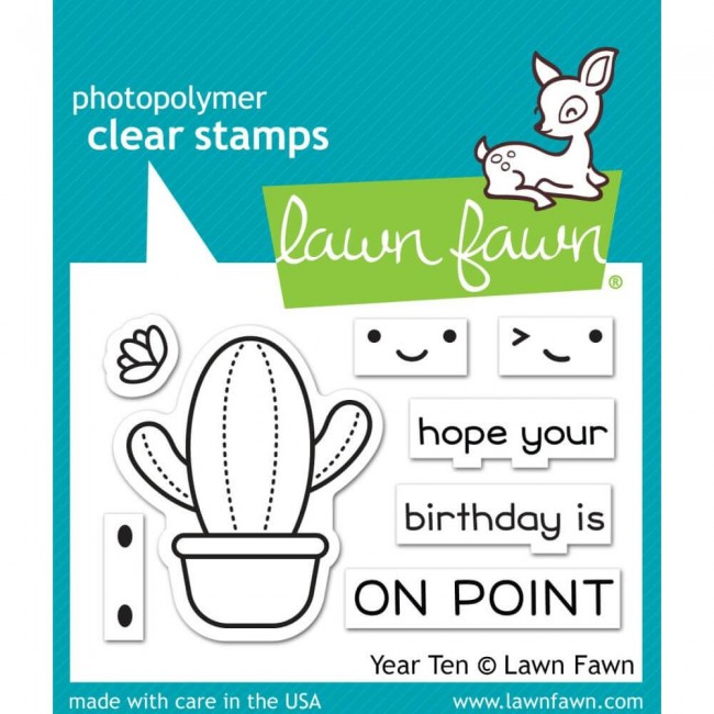 Tampon Acrylique 2x3 Lawn Fawn Year Ten