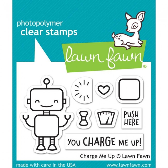 Tampon Acrylique 2x3 Lawn Fawn Charge Me Up