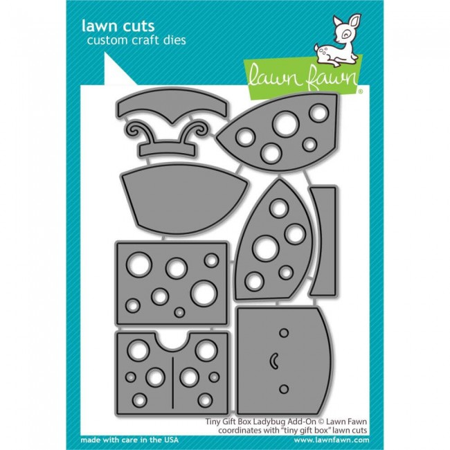 Matrice de Découpe Lawn Cuts Tiny Gift Box Ladybug Add-On