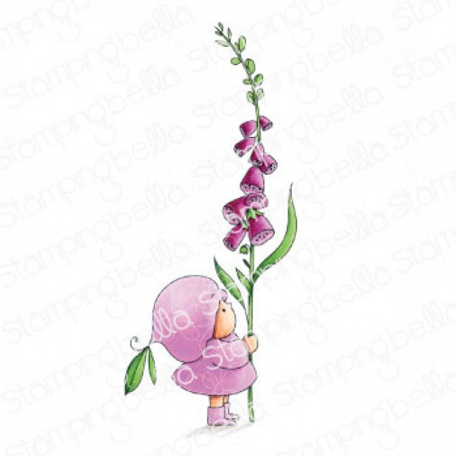 Tampon en Caoutchouc Bundle Girl With A Foxglove