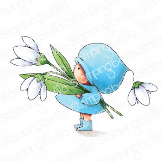 Tampon en Caoutchouc Bundle Girl With A Snowdrop