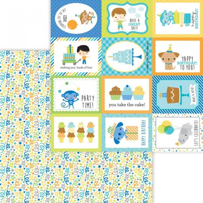 Papier Imprimé Recto-verso 12x12 Party Time Surprise!