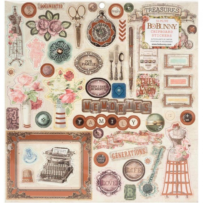Chipboard 12x12 Family Heirlooms
