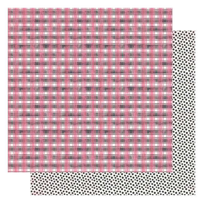 Papier Imprimé Recto-verso 12x12 Flawless #4 Pink & Black Checkered Plaid