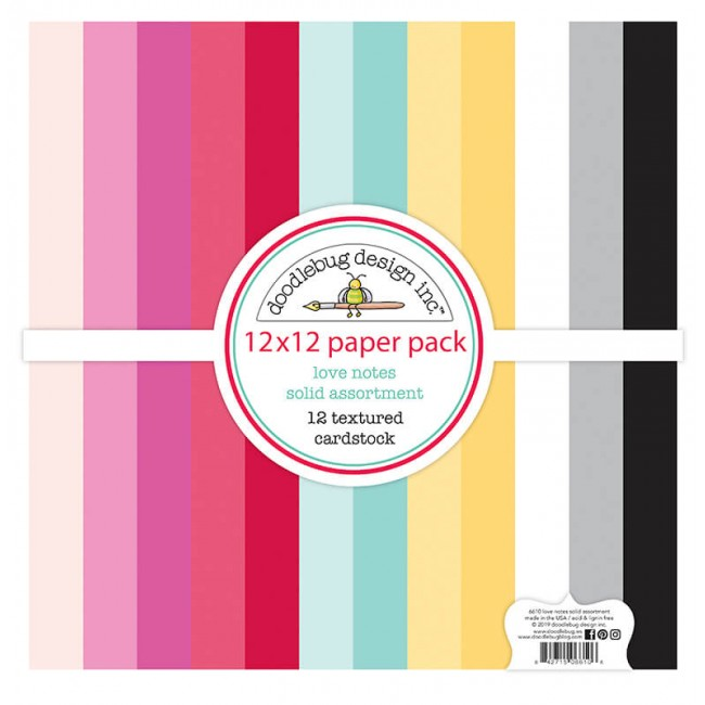 Kit de Cardstock 12x12 Love Notes