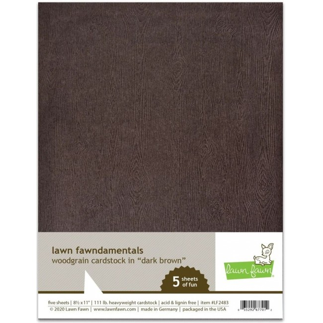 10 Papiers Unis 85x11 Woodgrain Dark Brown