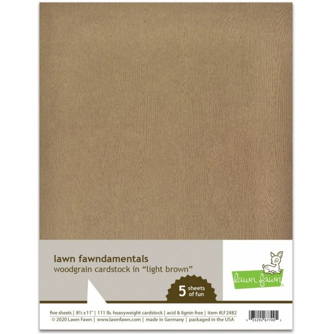 10 Papiers Unis 85x11 Woodgrain Light Brown
