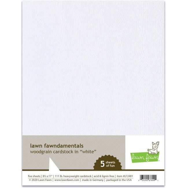 10 Papiers Unis 85x11 Woodgrain White