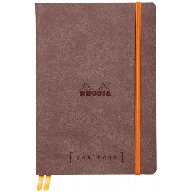 Cahier à Points A5 Rhodia GoalBook - Choco